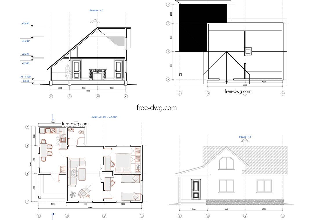Проекты дачных домов скачать в формате dwg