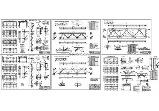 Одноэтажное промышленное здание - файл чертежа в формате DWG.