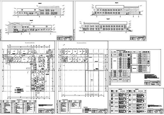 Проект административного корпуса зоопарка - файл чертежа в формате DWG.